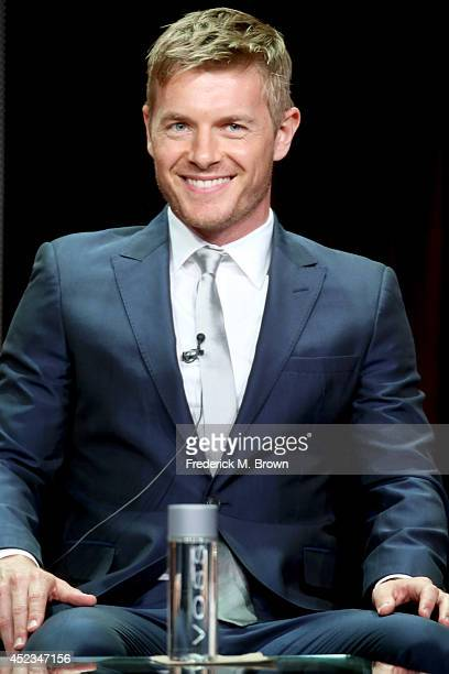 Actor Rick Cosnett speaks onstage at the The Flash panel during the CW Network portion of the 2014 Summer Television Critics Association at The...
