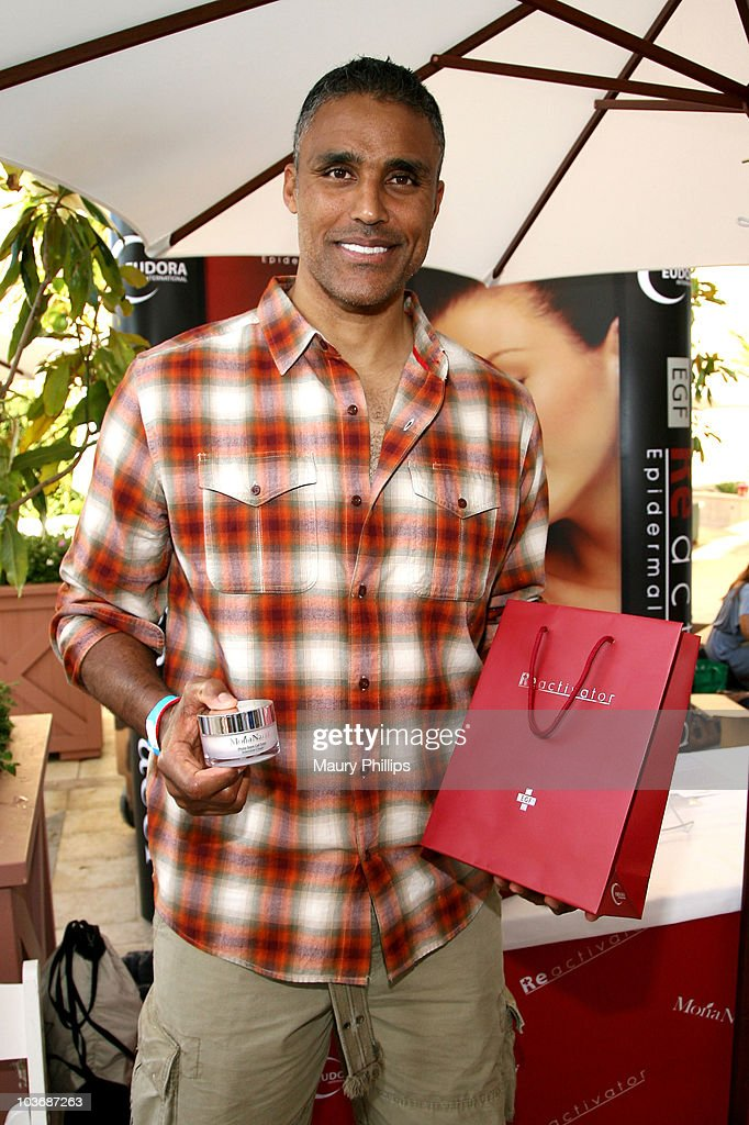 Actor Rick Fox poses at Eudora International booth during Kari Feinstein Primetime Emmy Awards Style Lounge Day 2 held at Montage Beverly Hills hotel on August 27, 2010 in Beverly Hills, California.