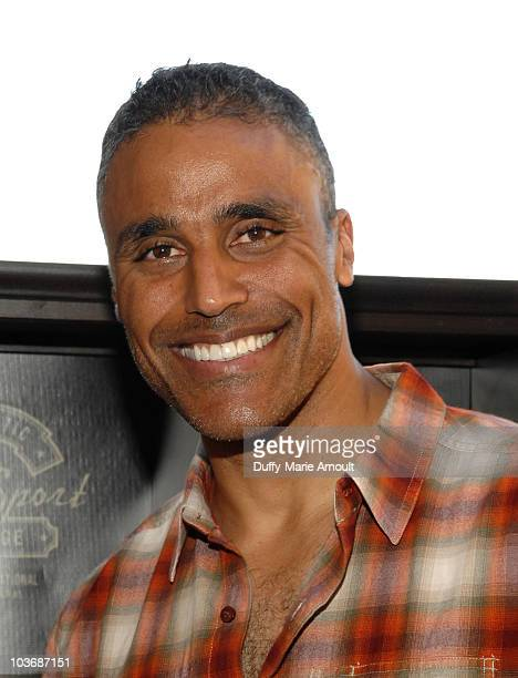 Actor Rick Fox poses at Retro Sport booth during Kari Feinstein Primetime Emmy Awards Style Lounge Day 2 held at Montage Beverly Hills hotel on...