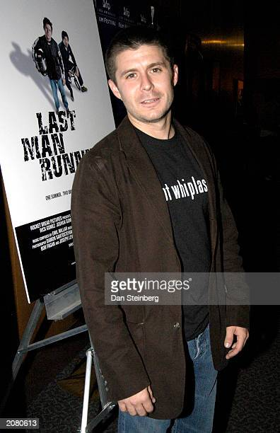 Actor Rick Gomez arrives at the premiere of Last Man Running at the Directors Guild of America theater on June 13 2003 in Hollywood California
