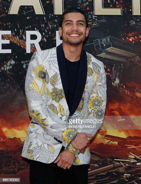 US actor Rick Gonzalez attends the premiere of 'Skyscraper' on July 10 2018 in New York City