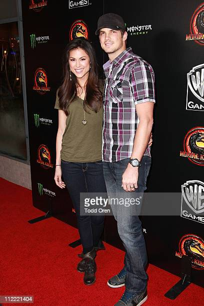 "Actor Rick Malambri and wife Lisa Malambri attend the ""Mortal Kombat Legacy"" digital series premiere celebration at Saint Felix II on April 14, 2011..."