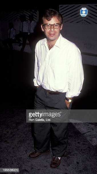 Actor Rick Moranis sighted on October 1 1991 at Spago Restaurant in West Hollywood California