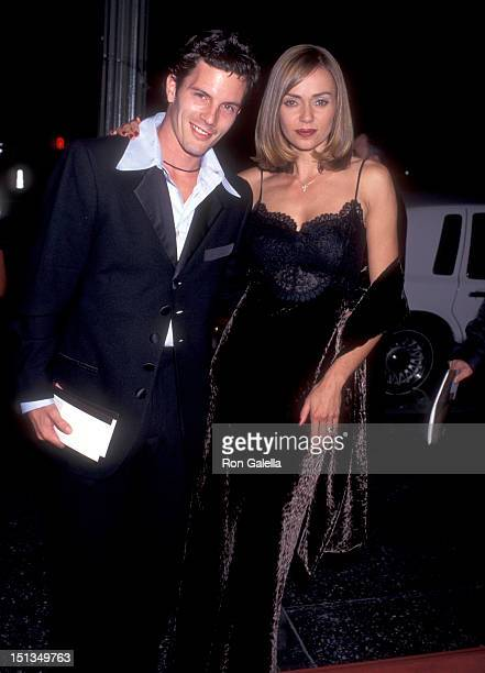 Actor Rick Otto and actress Vanessa Angel attend the 18th Annual National CableACE Awards on November 16 1996 at Wiltern Theatre in Los Angeles...
