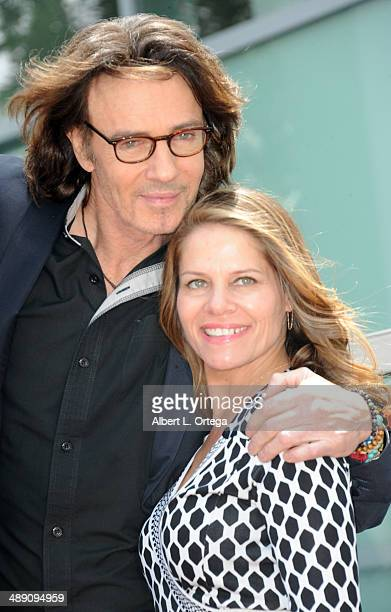 Actor Rick Springfield and wife Barbara Porter attend the ceremony honoring Rick Springfield with a Star on The Hollywood Walk of Fame on May 9 2014...