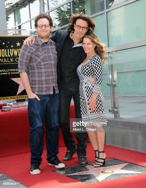 Actor Rick Springfield son Joshua Springthorpe and wife Barbara Porter attend the ceremony honoring Rick Springfield with a Star on The Hollywood...