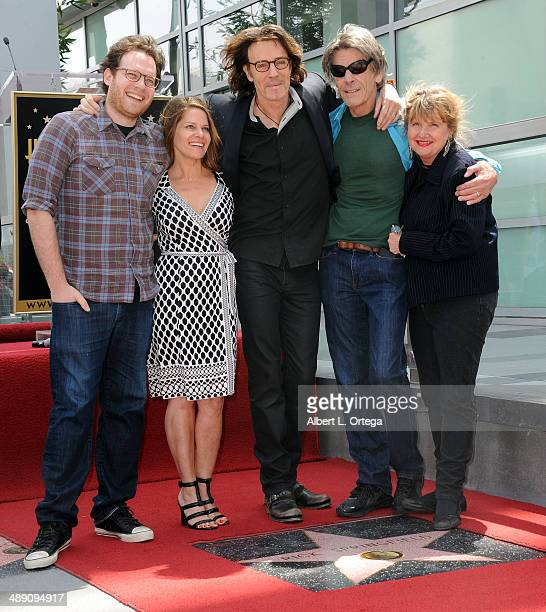 Actor Rick Springfield son Joshua Springthorpe wife Barbara Porter and brother Mike Springthorpe attend the ceremony honoring Rick Springfield with a...