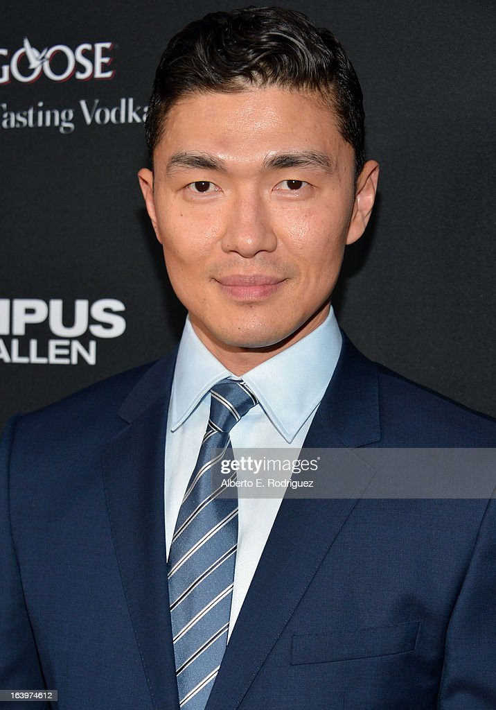Actor Rick Yune arrives at the premiere of FilmDistrict's 'Olympus Has Fallen' at ArcLight Cinemas Cinerama Dome on March 18, 2013 in Hollywood, California.