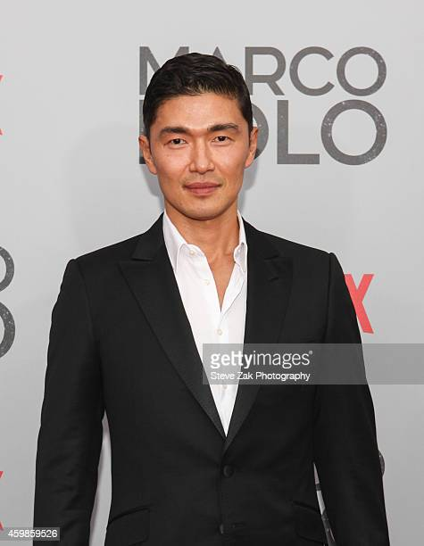 Actor Rick Yune attends the 'Marco Polo' New York series premiere at AMC Lincoln Square Theater on December 2 2014 in New York City