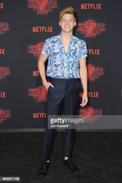 Actor Ricky Garcia arrives at the premiere of Netflix's 'Stranger Things' Season 2 at Regency Bruin Theatre on October 26 2017 in Los Angeles...