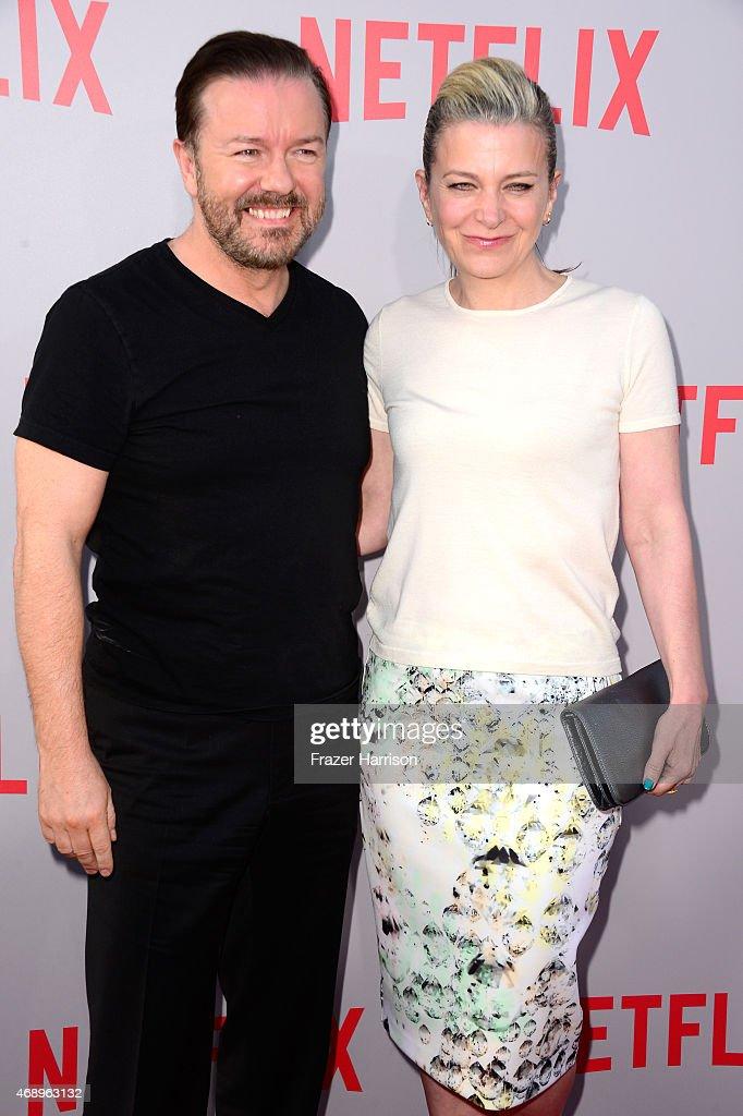 """Screening Of Netflix's """"Derek"""" - Arrivals"""