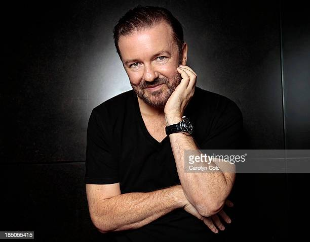 Actor Ricky Gervais is photographed for Los Angeles Times on September 6 2013 in New York City PUBLISHED IMAGE CREDIT MUST BE Carolyn Cole/Los...