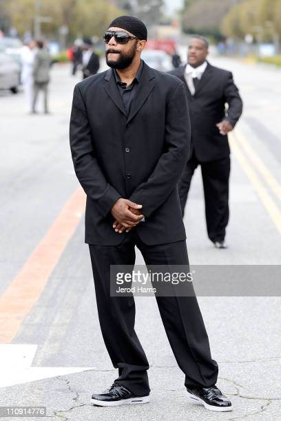 Actor Ricky Harris arrives at Nate Dogg aka Nathaniel Dwayne Hale Funeral Service on March 26, 2011 in Long Beach, California.