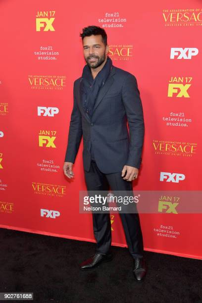Actor Ricky Martin attends the premiere of FX's 'The Assassination Of Gianni Versace American Crime Story' at ArcLight Hollywood on January 8 2018 in...