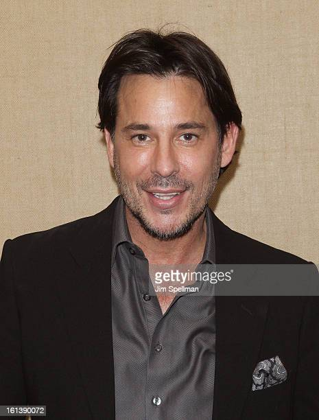 Actor Ricky Paull Goldin attends the Spontaneous Construction premiere at Guys American Kitchen Bar on February 10 2013 in New York City