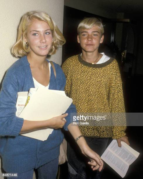 Actor Ricky Schroder and sister Dawn Schroder attend the 37th Annual Primetime Emmy Awards Rehearsals on September 21 1985 at Pasadena Civic...