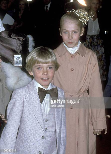 Actor Ricky Schroder and sister Dawn Schroder attend 'The Champ' Culver City Premiere and Party on March 20 1979 at MGM Studios in Culver City...