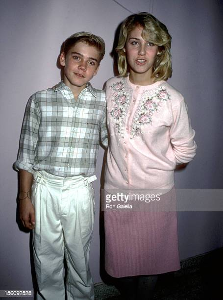 Actor Ricky Schroder and sister Dawn Schroder attend the 'Night of 100 Trees' Celebration on December 18 1984 at Limelight in New York City New York