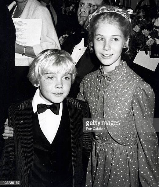 Actor Ricky Schroder and sister Dawn Schroder attending 37th Annual Golden Globe Awards on January 26 1980 at the Beverly Hilton Hotel in Beverly...