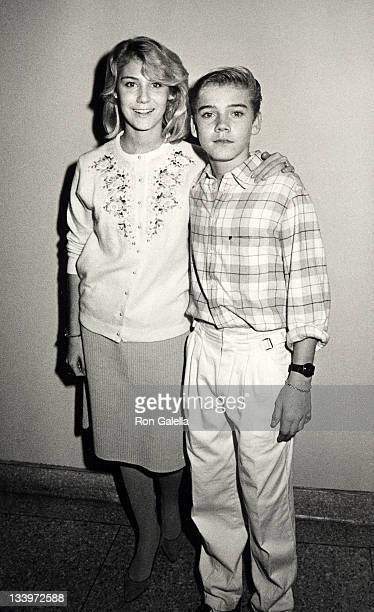 Actor Ricky Schroder and sister Dawn Schroder attending Night of 100 Trees Benefit on December 18 1984 at the Limelight Disco in New York City New...