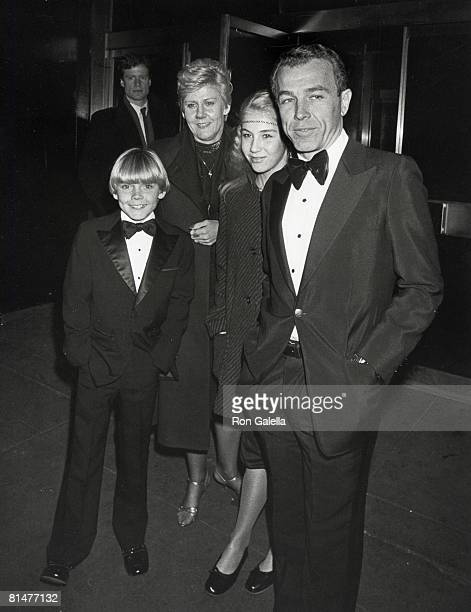 Actor Ricky Schroder sister Dawn Schoder mother Diane Schroder and father Richard Schroder attending Faberge Party on December 4 1981 at Studio 54 in...