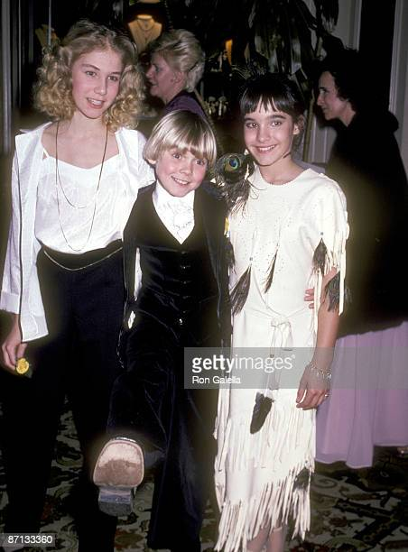 Actor Ricky Schroder sister Dawn Schroder and Actress Danielle Brisebois attend the 38th Annual Golden Globe Awards on January 31 1981 at Beverly...