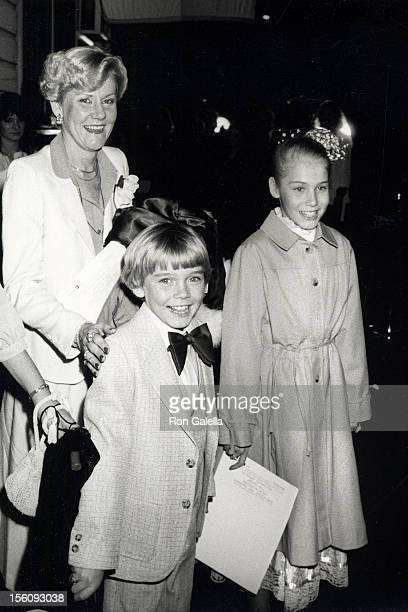 Actor Ricky Schroder sister Dawn Schroder and mother Diane Schroder attending the screening party for 'The Champ' on March 20 1979 at MGM Studios in...