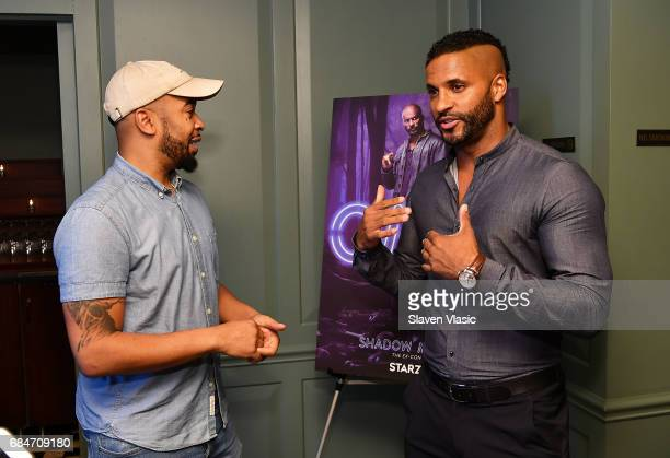 Actor Ricky Whittle and guest attend 'American Gods' Junket Mixer at Soho House on May 18 2017 in New York City