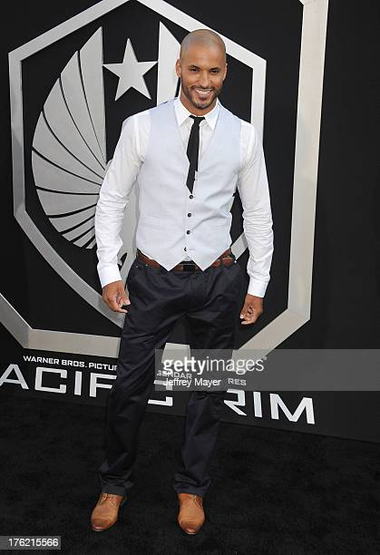 Actor Ricky Whittle arrives at the 'Pacific Rim' Los Angeles Premiere at Dolby Theatre on July 9 2013 in Hollywood California