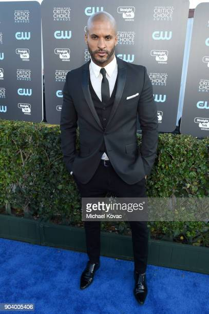 Actor Ricky Whittle attends Moet Chandon celebrate The 23rd Annual Critics' Choice Awards at Barker Hangar on January 11 2018 in Santa Monica...