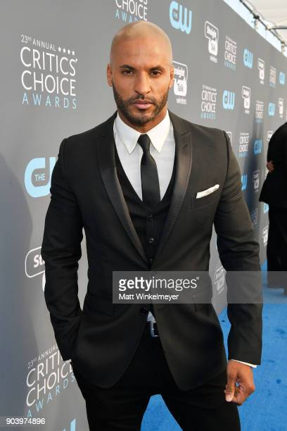 Actor Ricky Whittle attends The 23rd Annual Critics' Choice Awards at Barker Hangar on January 11 2018 in Santa Monica California