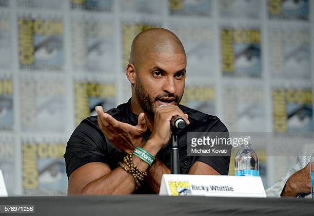 Actor Ricky Whittle attends the 'American Gods' panel during ComicCon International 2016 at San Diego Convention Center on July 22 2016 in San Diego...