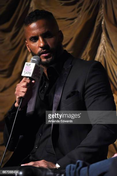 Actor Ricky Whittle attends the Film Independent at LACMA special screening and QA of 'American Gods' at the Bing Theatre at LACMA on April 10 2017...