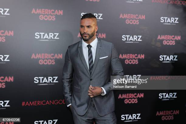 Actor Ricky Whittle attends the premiere of Starz's 'American Gods' at the ArcLight Cinemas Cinerama Dome on April 20 2017 in Hollywood California