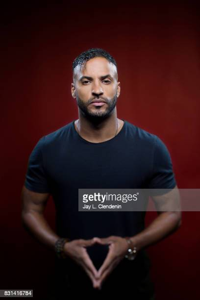 Actor Ricky Whittle from the television series 'American Gods' is photographed in the LA Times photo studio at ComicCon 2017 in San Diego CA on July...