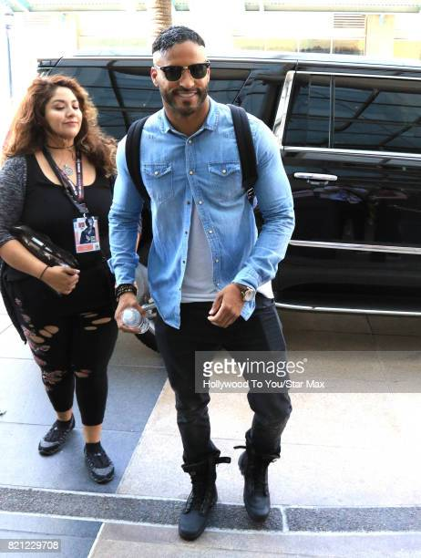 Actor Ricky Whittle is seen on July 22 2017 at Comic Con in San Diego CA