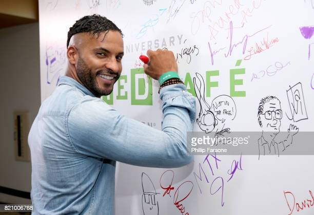 Actor Ricky Whittle of 'American Gods' at 2017 WIRED Cafe at Comic Con, presented by AT&T Audience Network on July 22, 2017 in San Diego, California.