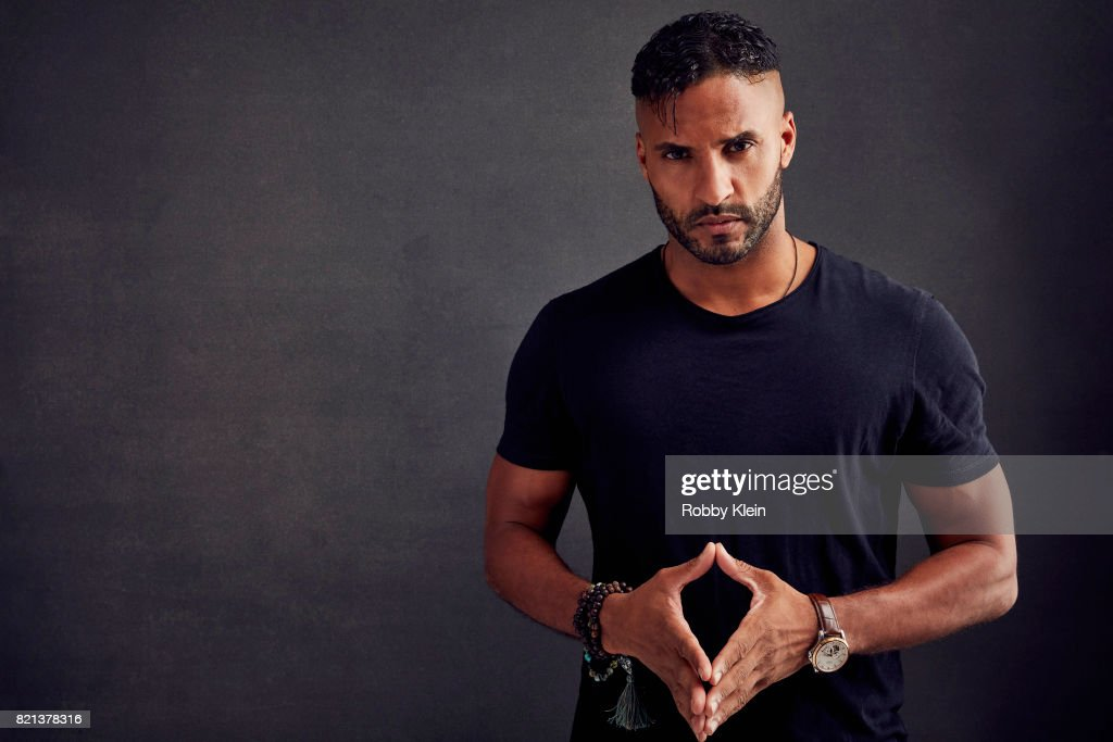 Actor Ricky Whittle of Starz' 'American Gods' poses for a portrait during Comic-Con 2017 at Hard Rock Hotel San Diego on July 21, 2017 in San Diego, California.