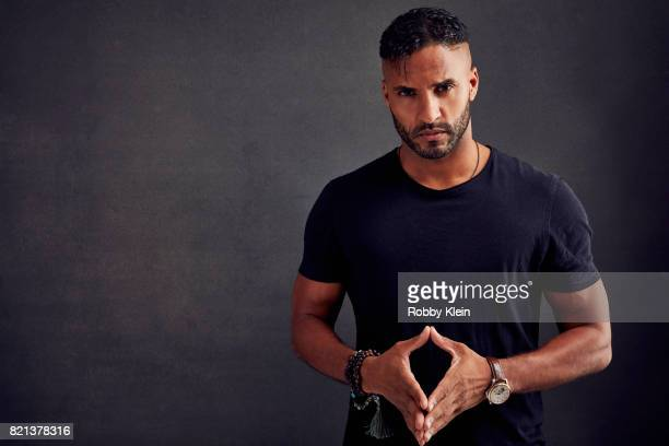 Actor Ricky Whittle of Starz' 'American Gods' poses for a portrait during ComicCon 2017 at Hard Rock Hotel San Diego on July 21 2017 in San Diego...