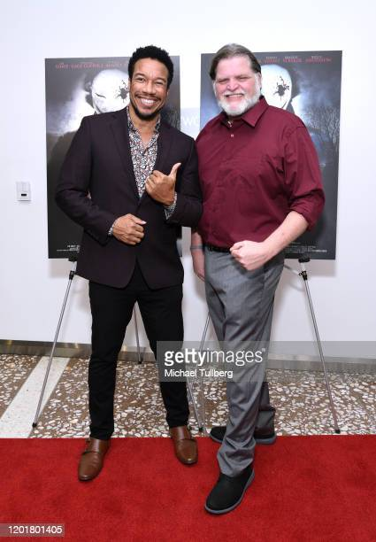 Actor Rico E Anderson and director Michael Thomas Daniel attend the premiere of Get Gone at Arena Cinelounge on January 24 2020 in Hollywood...