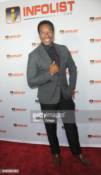Actor Rico E Anderson arrives for the INFOLISTcom's hosted PreEmmys Soiree Benefitting Victims Of Hurricane Harvey held at The Argyle on September 13...