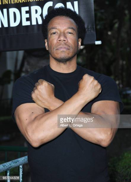 Actor Rico E Anderson attends Day 2 of Wonder Con 2018 held at Anaheim Convention Center on March 24 2018 in Anaheim California