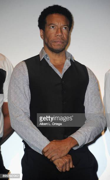 Actor Rico E Anderson participates in the QA at the Cast And Crew Screening Of 5th Passenger held at TCL Chinese 6 Theatres on December 13 2017 in...