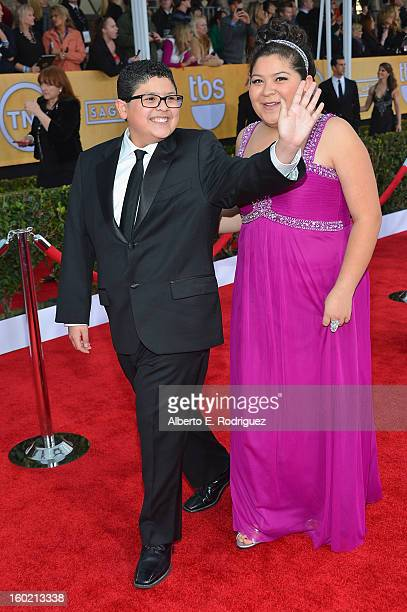 Actor Rico Rodriguez and actress/singer Raini Rodriguez arrive at the 19th Annual Screen Actors Guild Awards held at The Shrine Auditorium on January...