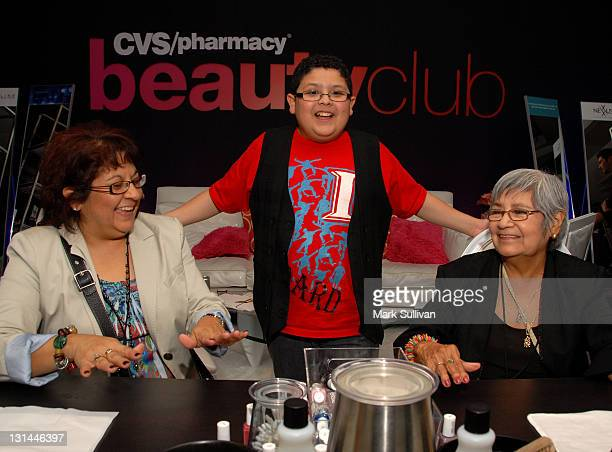 Actor Rico Rodriguez and family attends the CVS Pharmacy Beauty Club at the Access Hollywood Stuff You Must Lounge produced by On 3 Productions at...
