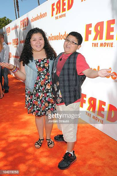Actor Rico Rodriguez and Raini Rodriguez attend Nickelodeon's 'Fred The Movie' premiere screening event at Paramount Theater on September 11 2010 in...
