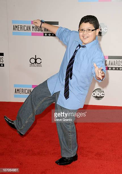 Actor Rico Rodriguez arrives at the 2010 American Music Awards held at Nokia Theatre LA Live on November 21 2010 in Los Angeles California
