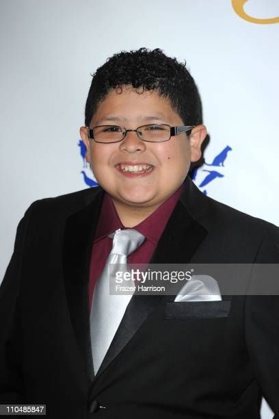 Actor Rico Rodriguez arrives at the 25th Anniversary Genesis Awards held at the Hyatt Regency Century Plaza Hotel on March 19 2011 in Los Angeles...