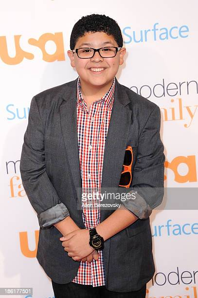 Actor Rico Rodriguez arrives at the 'Modern Family' Fan Appreciation Day hosted by USA Network at Westwood Village on October 28 2013 in Los Angeles...
