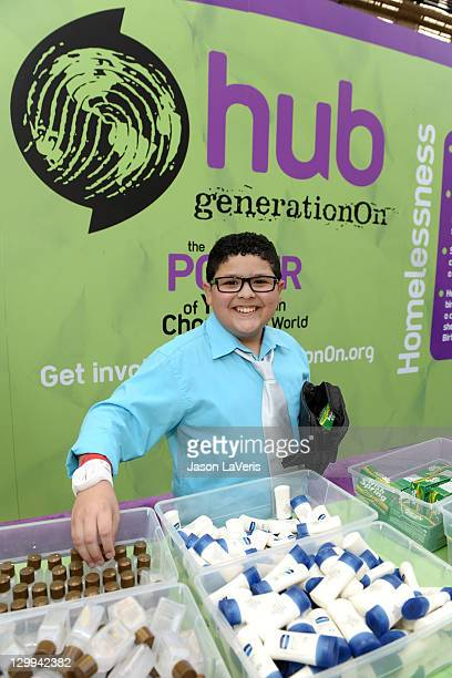 Actor Rico Rodriguez at the Hub booth during Variety's 5th annual Power Of Youth event presented by The Hub at Paramount Studios on October 22 2011...